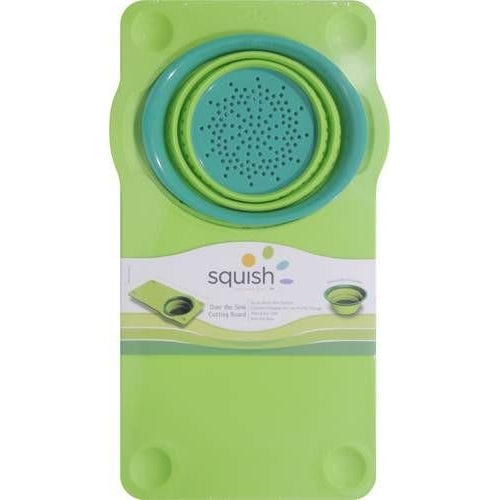 Squish Over The Sink Cutting Board With Colander | Extra 30% Off Code FF30 | Finest Flatware