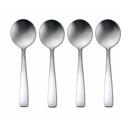 Oneida Accent Set of 4 Bouillon Spoons 18/8 Stainless - Extra 30% Off Code FF30 - Finest Flatware