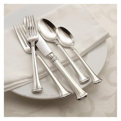 Oneida Apollonia 50 Piece Service for 8 with 8 Extra Teaspoons - Finest Flatware - Extra 30% Off Code FF30
