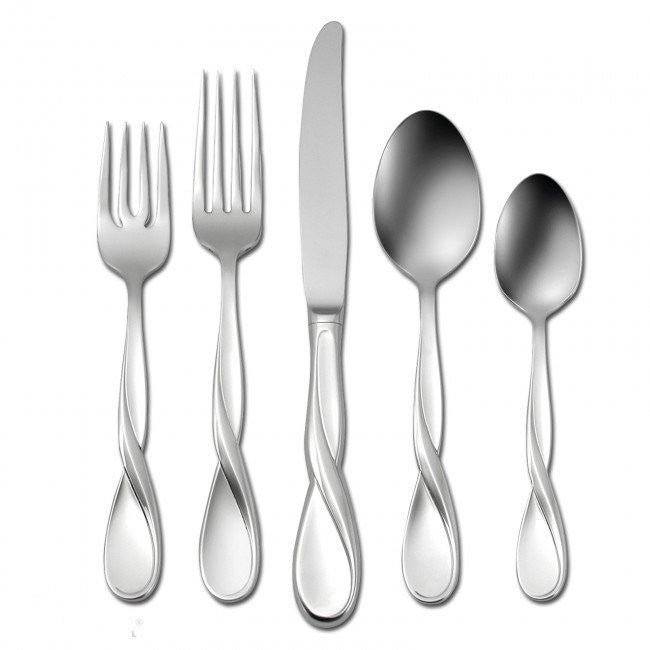 Oneida Aquarius 65 Piece Fine Flatware Set, Service for 12 | Extra 30% Off Code FF30 | Finest Flatware