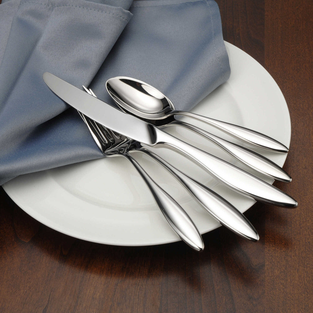 Oneida Asteria 5 Piece Fine Flatware Set, Service for 1 | Extra 30% Off Code FF30 | Finest Flatware