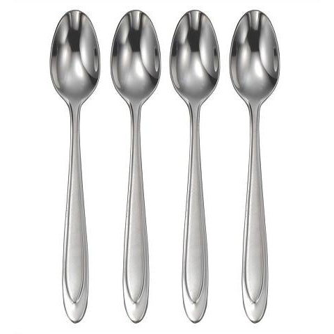 Oneida Aurora Set of 4 Iced Tea Spoons - Finest Flatware - Extra 30% Off Code FF30