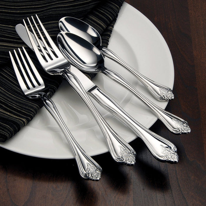 Oneida Boutonniere 20 Piece Casual Flatware Set, Service for 4 | Extra 30% Off Code FF30 | Finest Flatware