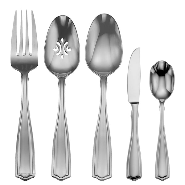 Oneida Carolina 45 Piece Fine Flatware Set, Service for 8 - Finest Flatware - Extra 30% Off Code FF30