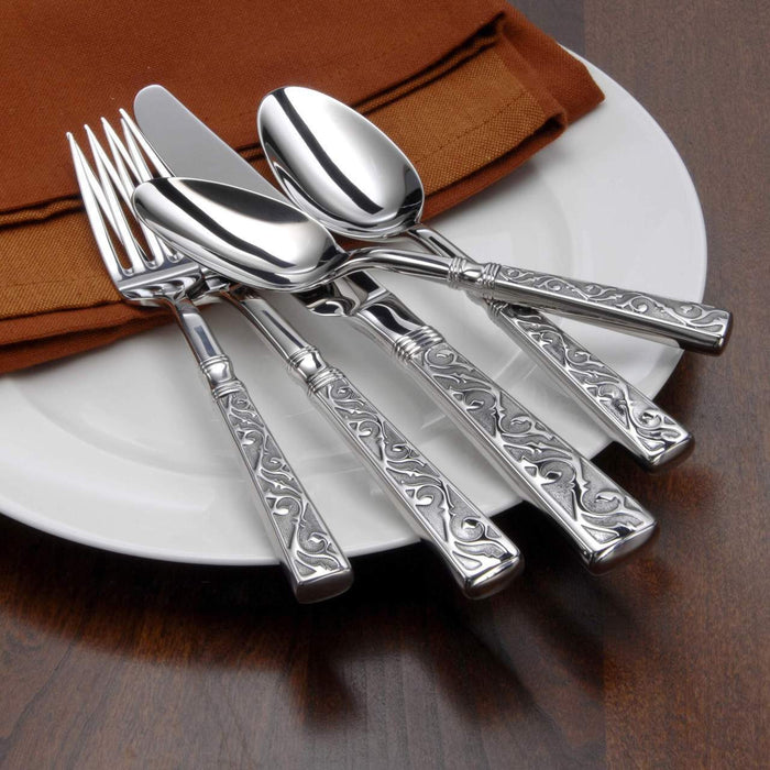 Oneida Castellina 5 Piece Fine Flatware Set, Service for 1 | Extra 30% Off Code FF30 | Finest Flatware