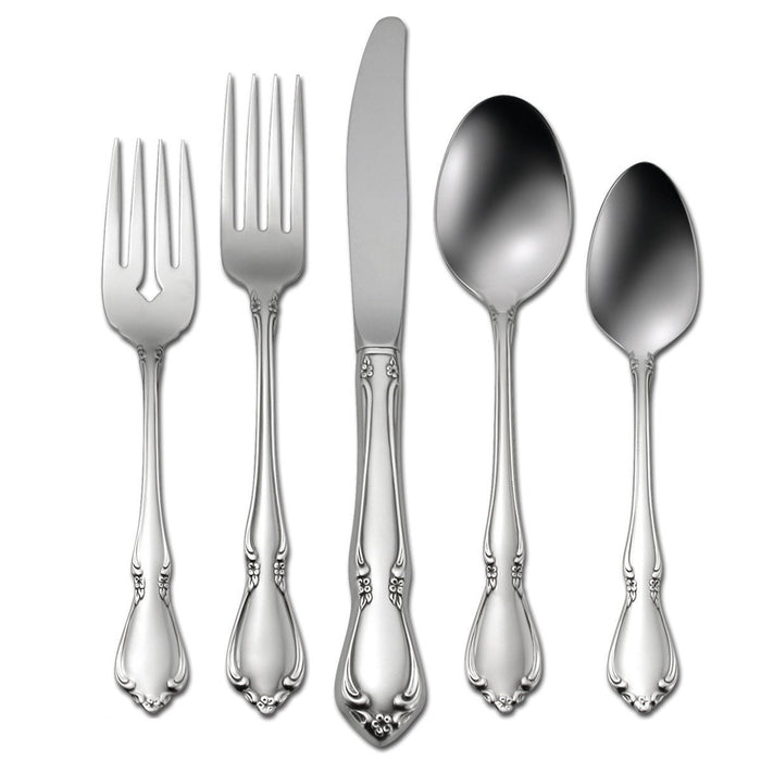 Oneida Chateau 5 Piece Fine Flatware Set, Service for 1 | Extra 30% Off Code FF30 | Finest Flatware