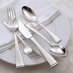 Oneida Classic Pearl 45 Piece Fine Flatware Set, Service for 8 - Extra 30% Off Code FF30 - Finest Flatware