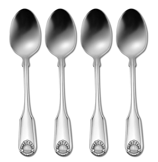 Oneida Classic Shell Set of 4 Teaspoons