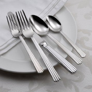 Oneida Corduroy 62 Piece Fine Flatware Set, Service for 12 | Extra 30% Off Code FF30 | Finest Flatware
