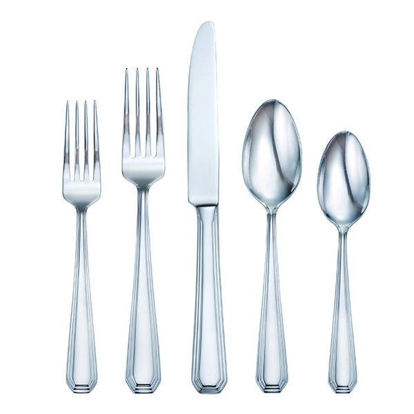 Oneida 90 Piece Cosgrove 18/10 Stainless Fine Flatware Set, Service for 12 | Extra 30% Off Code FF30 | Finest Flatware