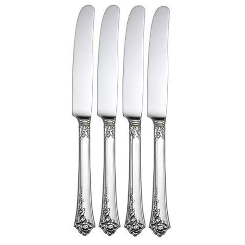 Oneida Damask Rose Set of 4 Dinner Knives USA Made | Extra 30% Off Code FF30 | Finest Flatware
