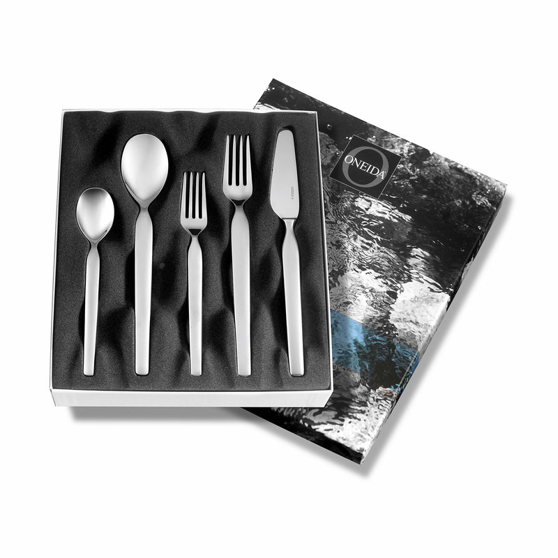 "Oneida ""Naturally Norwegian"" Elv 5 Piece Place Set - Extra 30% Off Code FF30 - Finest Flatware"