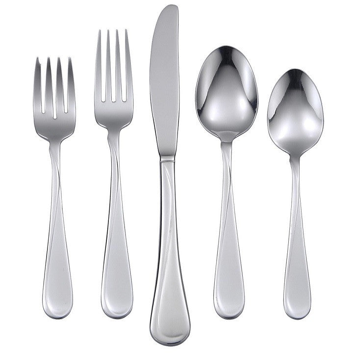 Oneida Flight 53 Piece Casual Flatware Set, Service for 8 with Extra Teaspoons - Extra 30% Off Code FF30 - Finest Flatware
