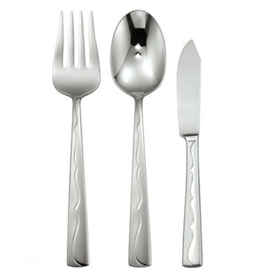 Oneida Fusion 3 Piece Serving Set 18/10 Stainless | Extra 30% Off Code FF30 | Finest Flatware