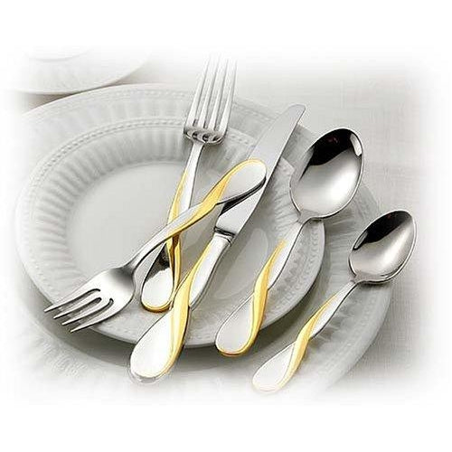 Oneida Golden Aquarius 20 Piece Fine Flatware Set, Service for 4 | Extra 30% Off Code FF30 | Finest Flatware