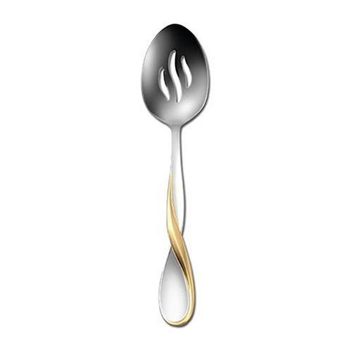 Oneida Golden Aquarius Pierced Serving Spoon - Finest Flatware - Extra 30% Off Code FF30