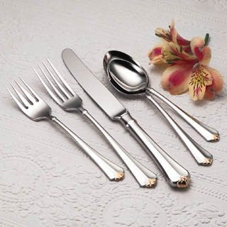 Oneida Golden Juilliard 45 Piece Fine Flatware Set, Service for 8 - Extra 30% Off Code FF30 - Finest Flatware
