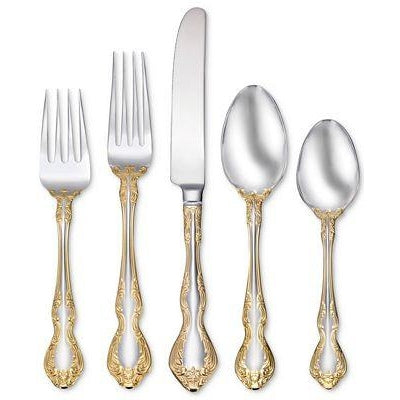 Oneida Golden Mandolina 45 Piece Fine Flatware Set, Service for 8 - Extra 30% Off Code FF30 - Finest Flatware