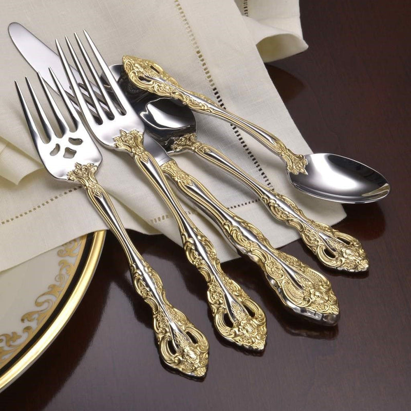 Oneida Golden Michelangelo 45 Piece Fine Flatware Set, Service for 8 - Extra 30% Off Code FF30 - Finest Flatware