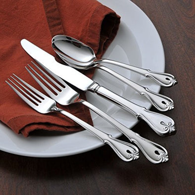 Oneida Harmonic 5 Piece Fine Flatware Set, Service for 1 | Extra 30% Off Code FF30 | Finest Flatware