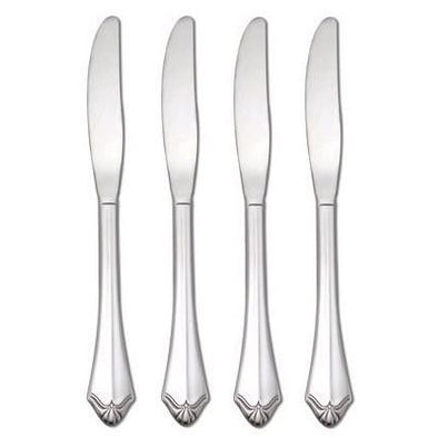 Oneida Kenwood Set of 4 Flat Handle Serrated Dinner Knives - Extra 30% Off Code FF30 - Finest Flatware
