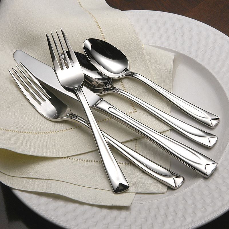 Oneida Lincoln 65 Piece Casual Flatware Set, Service for 12 - Finest Flatware - Extra 30% Off Code FF30