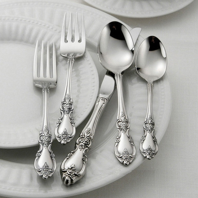 Oneida Louisiana 5 Piece Fine Flatware Set, Service for 1 - Finest Flatware - Extra 30% Off Code FF30
