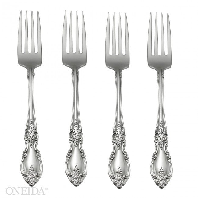 Oneida Louisiana Set of 4 Dinner Forks - Finest Flatware - Extra 30% Off Code FF30