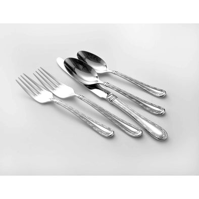 Oneida Marlena 114 Piece 18/10 Stainless Fine Flatware Set, Service for 12 | Extra 30% Off Code FF30 | Finest Flatware