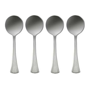 Oneida Melbourne Set of 4 Round Bowl Soup Spoons | Extra 30% Off Code FF30 | Finest Flatware