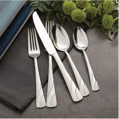 Oneida River 42 Piece Casual Flatware Set, Service for 8 | Extra 30% Off Code FF30 | Finest Flatware