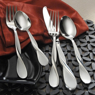 Oneida Satin Aquarius 20 Piece Fine Flatware Set, Service for 4 - Extra 30% Off Code FF30 - Finest Flatware