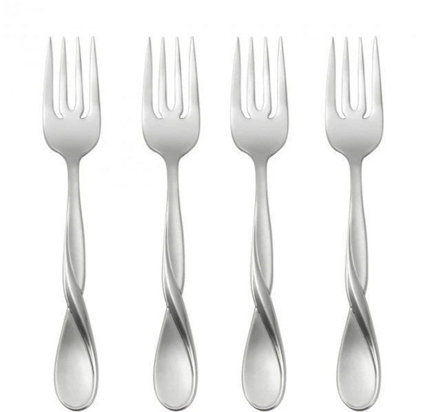 Oneida Satin Aquarius Set of 4 Salad Forks | Extra 30% Off Code FF30 | Finest Flatware