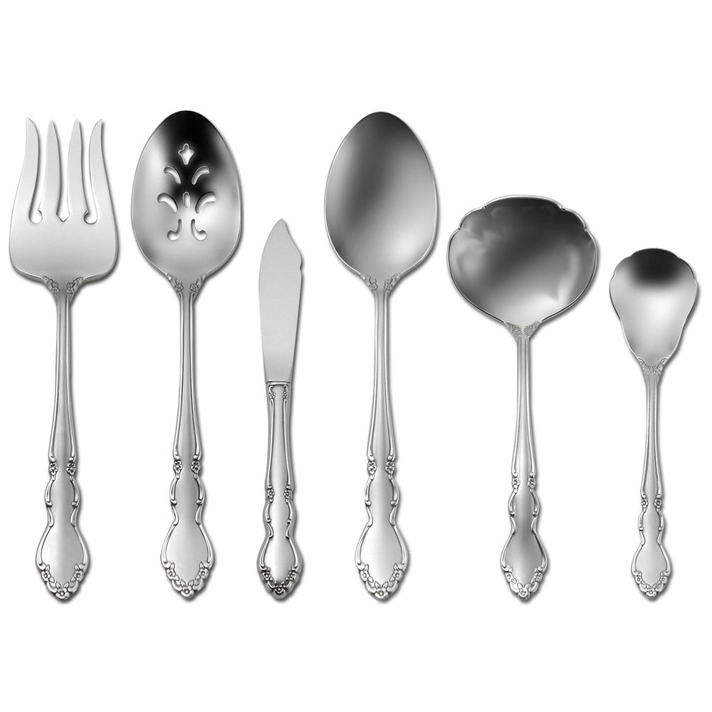 Oneida Satin Dover 6 Piece Hostess and Serving Set | Extra 30% Off Code FF30 | Finest Flatware