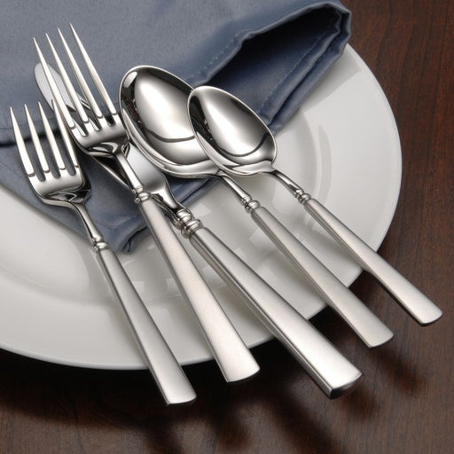 Oneida Satin Easton 5 Piece Fine Flatware Set, Service for 1 | Extra 30% Off Code FF30 | Finest Flatware