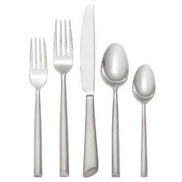 Oneida Satin Urbana 5 Piece Fine Flatware Set, Service for 1 | Extra 30% Off Code FF30 | Finest Flatware