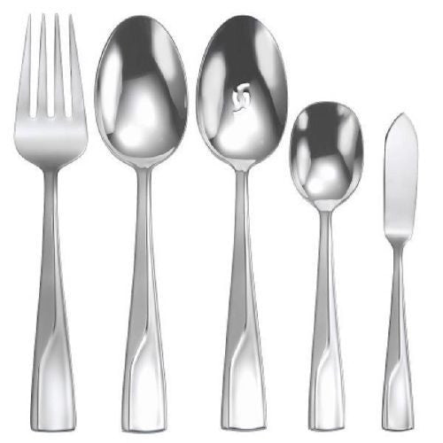 Oneida Splice 5 Piece Serving Set - Finest Flatware - Extra 30% Off Code FF30