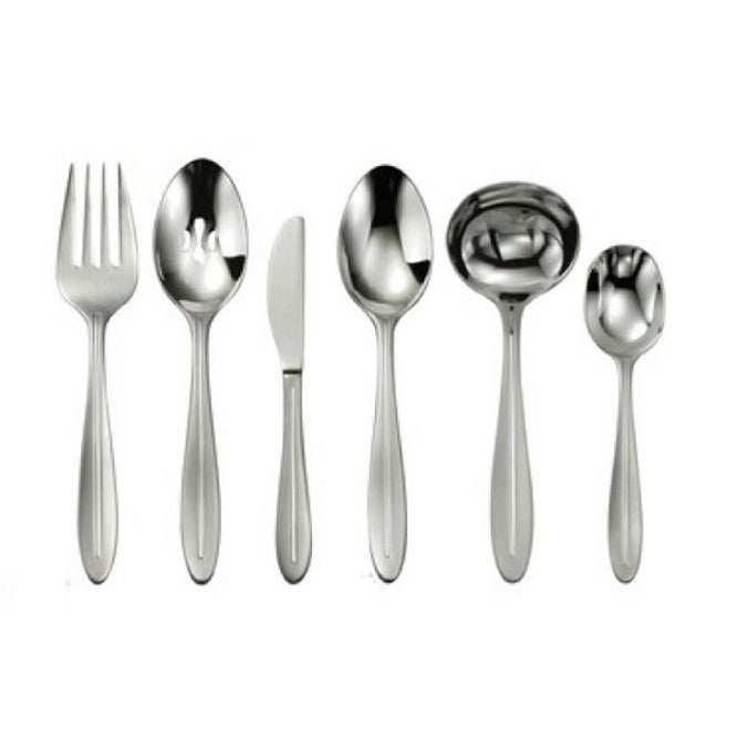 Oneida Stave 6 Piece Hostess and Serving Set | Extra 30% Off Code FF30 | Finest Flatware