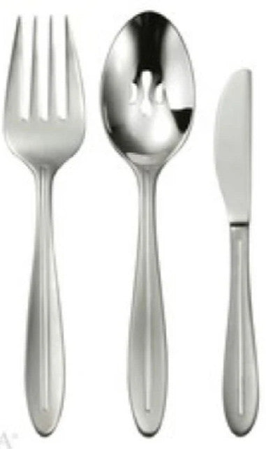 Oneida Stave 3 Piece Serving Set - Extra 30% Off Code FF30 - Finest Flatware