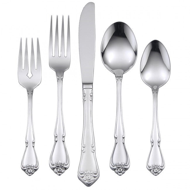Oneida True Rose 42 Piece Casual Flatware Set, Service for 8 - Extra 30% Off Code FF30 - Finest Flatware