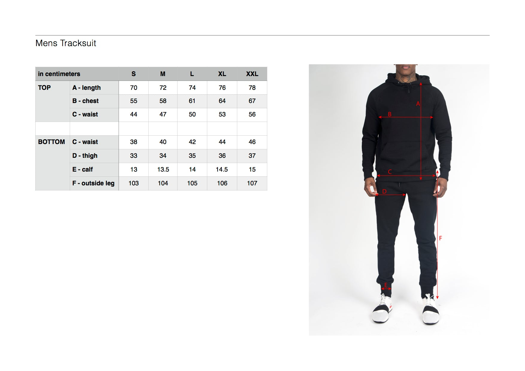 88e538a2c0e Size Guide – Trapstar London