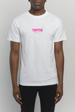 Art of War Paint Neon Pink Tee - White