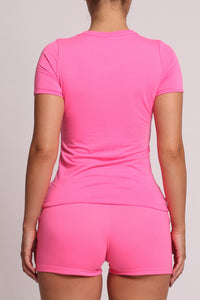 Womens Irongate Arch Shorts Set - Fuchsia Pink