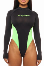 Load image into Gallery viewer, Womens Panel Racing Body - Black/Neon Green
