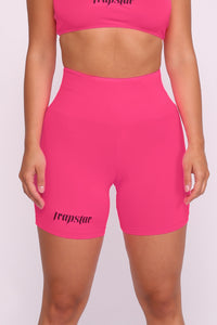 Womens Ironblade Cycling Shorts - Neon Pink