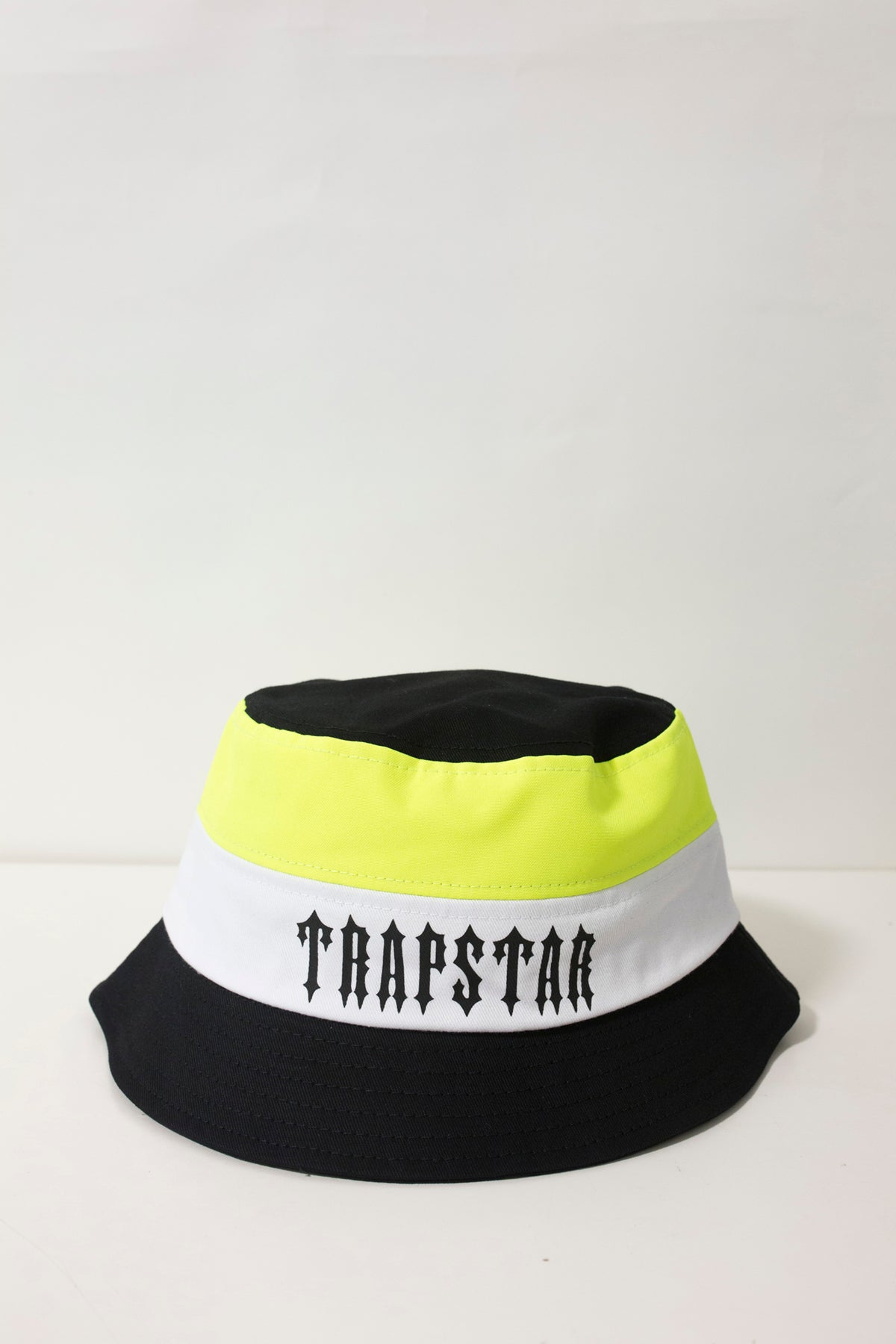 Irongate Panel Bucket Hat - Black/Neon Yellow/ White