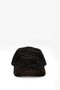 Signature Allover Strapback - Black/Black