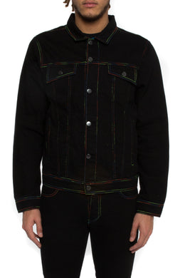 Spectrum Denim Jacket - Black