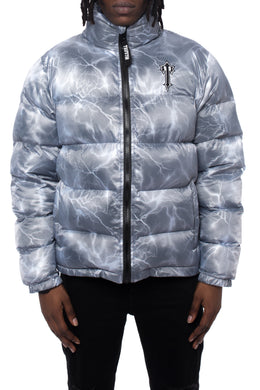 Mens AW20 Irongate Quilted Slim Fit Lightning Jacket - Silver