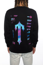 Load image into Gallery viewer, Irongate T Trip Drip Crewneck - Black/Solar Eclipse